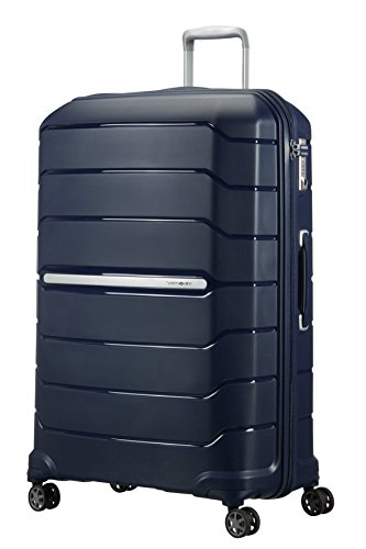 Samsonite Flux Spinner 81/30 Expandable Bagaglio a Mano, XL (81cm-136L), Blu (Navy Blue)