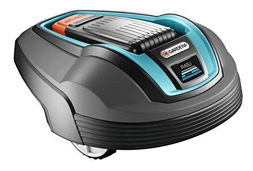 Gardena 4071-72 Robot Rasaerba, Blu/Nero/Arancione, 400 m²