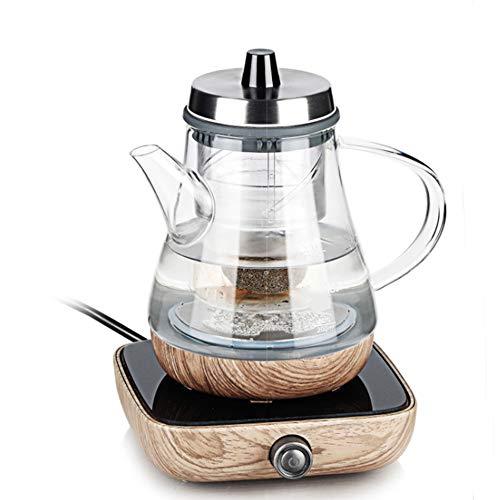 TINKOU Hervidor de Agua eléctrico, máquina de té de Cristal a Prueba...