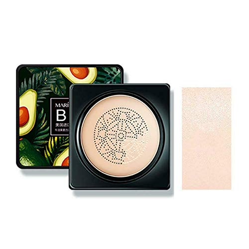Mushroom Head Foundation Natural, Avocado Air Cushion Bb-creme, Avocado Moisturizing Cushion Bb Cream Moisturizing Concealer Lining Transluzentien, Mushroom Head...