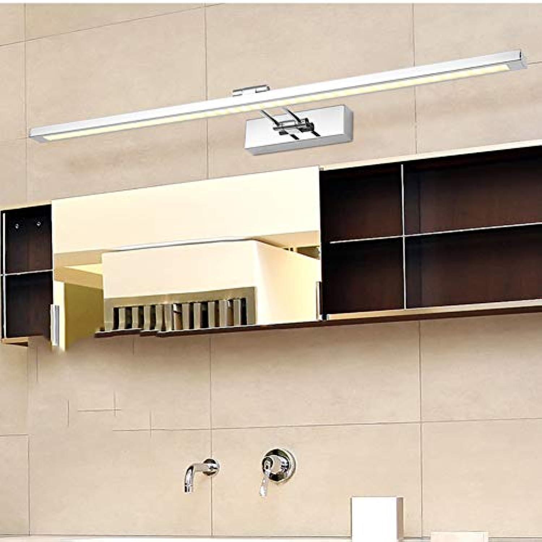 FCX-LIGHT Spiegel Scheinwerfer Badezimmer Badezimmer Spiegel Licht einfach Moderne wasserdichte Anti-Fog-Spiegel Scheinwerfer Edelstahl Spiegel Scheinwerfer verstellbare Scheinwerfer,Beige,16W80CM