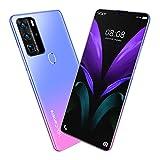 Beautyup P80pro Smart Phone Fingerprint Face Lock Teléfono Móvil de 7,1 Pulgadas 12 GB + 512 GB Teléfono Móvil Barato (Color : Purple)
