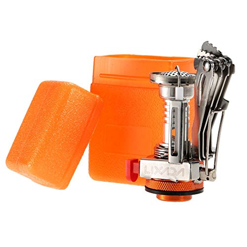 Rcsinway Camping Suministros de Cocina de Camping Salvaje Integrado Mini-Cocina con Estufa de Encendido electrónico portátil de Bolsillo (Size : Orange Connector)