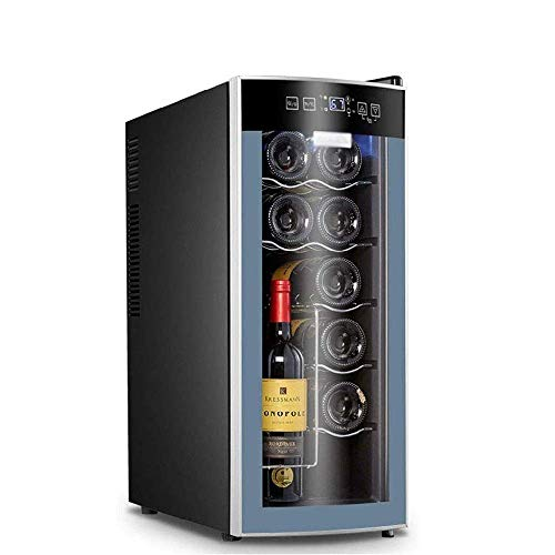 12 Bottles of Wine Cooler, Quiet Operation Thermoelectric Refrigerator Freestanding Counter Touch Screen Digital Temperature Display Quiet,energy saving