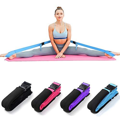 Bandas de Estiramiento de piernas Flexibilidad Correas de Estiramiento aptas para Danza Ballet Apertura Suave Ejercicio de Gimnasio Entrenamiento Yoga Extensible Artes Marciales (Azul)