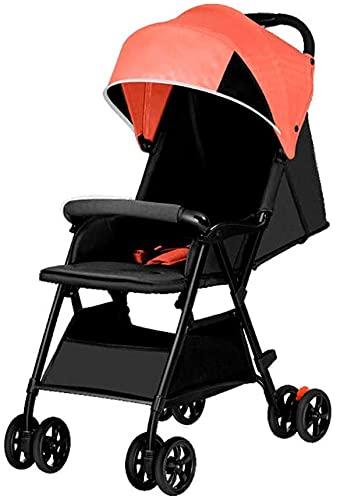Cochecito de cochecito ligero,buggy de viaje con asiento trasero reclinable Easy Un pliegue de mano Cochecito de avión compacto,C (Color : B)