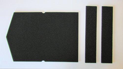 Filter Set für Miele Schwammfilter 6057930 + 9688381 Wärmepumpentrockner Filter Trockner Kondenstrokner Filterschaum Schaumstoff Sockelfilter
