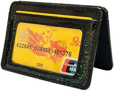Radorock Women Men Multi Card Card Holder Wallet Frosted Fabric Card Holder Package Black product image