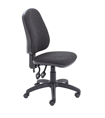 Office Hippo Small Office Chair without Arms, Computer Desk Chair for Office, Swivel Chair, Wheels, Charcoal Grey