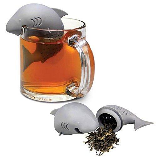 HeroNeo Carino Shark silicone infusore allentato Tea Leaf setaccio erbe Spice Filtro diffusore