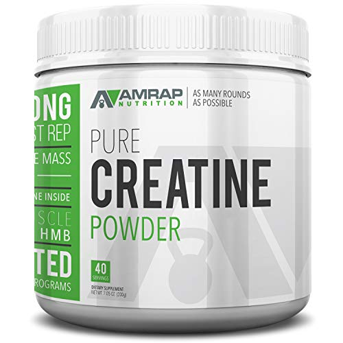 AMRAP Nutrition - Creatine Powder - Formulated to Give You Energy When You Need It Most - Builds Lean Muscle Mass - Aids in Muscle Recovery - Pre-Workout, for Men - Women