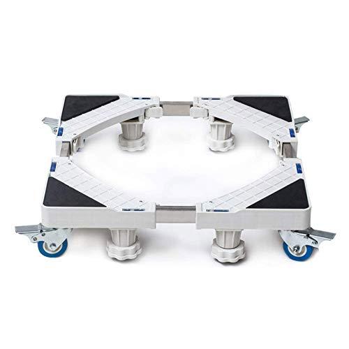 FEEE-ZC Soporte Ajustable para refrigerador, Soporte para Almacenamiento de electrodomésticos, Rodillo, Carro, Ruedas, Base, Lavadora