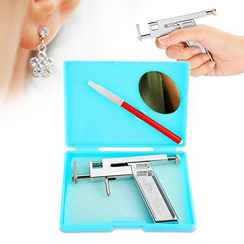 Oor Piercing pistool, Boor pistool piercing apparaat oor naald pistool, piercing apparaat, met ponsen pistool, marker pen, plastic behuizing met spiegel