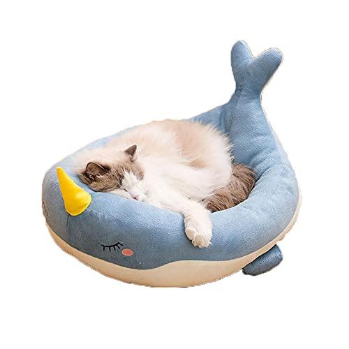 Nido de Gato, Casa de Gato de Dibujos Animados Suave Plegable cómoda Universal, Forma de heces de Dibujos Animados Nido de Gato Universal, Tela para Gatos