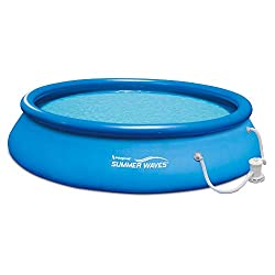 cheap Summer wave 15ft x 36inch Inflatable quick set with filter pump Inflatable pool