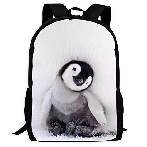 XCNGG Custom Pattern Backpack 3D Printing Little Penguin Children's School Backpack Teen Boys and Girls Cartoon Casual schoolbags