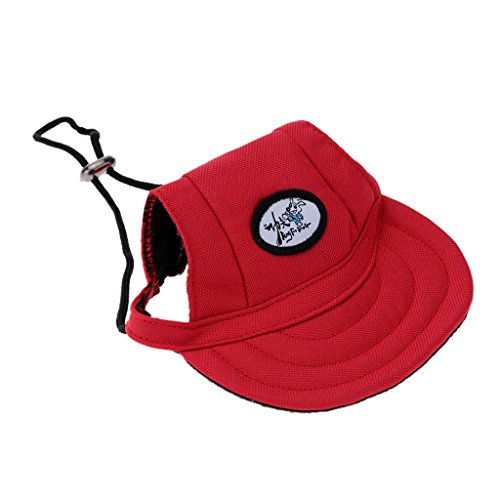 Generic Kleines Haustier Hund, Katze, Kätzchen Regenbogen Hundecap Baseball Mütze Gurt Hat Mütze Kappe Sunbonnet - #17, S