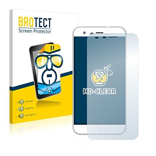 BROTECT Schutzfolie kompatibel mit Ulefone Paris X (2 Stück) klare Bildschirmschutz-Folie