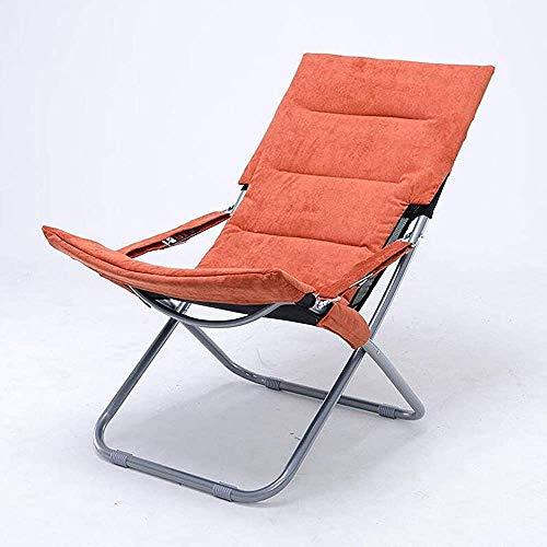 Silla de silla naranja plegable almuerzo descanso sillón sillón de invierno de dos propósitos, diseño liviano, artesanía liviana y de alta calidad,Orange