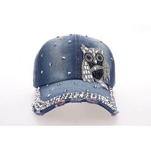 N/A Baseball Kappe Cap Fashion Leisure OWL Strass Vintage Baumwolle Baseball Cap
