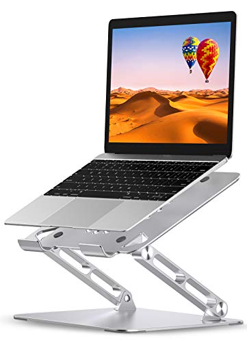 """Babacom Soporte Portatil, Ajustable Elevador Portatil Mesa con Ventilación de Calor, Aluminio Refrigeración Soporte Ordenador Portátil Compatible con MacBook, Lenovo, Dell, HP y Más 10-16"""" Portatile"""