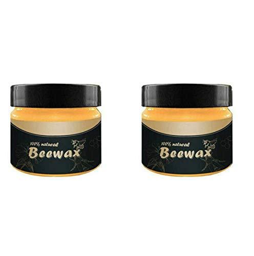 2 PCs Wood Seasoning Beewax - Traditional Beeswax Polish for Wood & Furniture