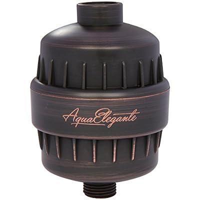 Aqua Elegante High Output Luxury Shower Filter - Best Chlorine Removing Filtration System & Cartridge