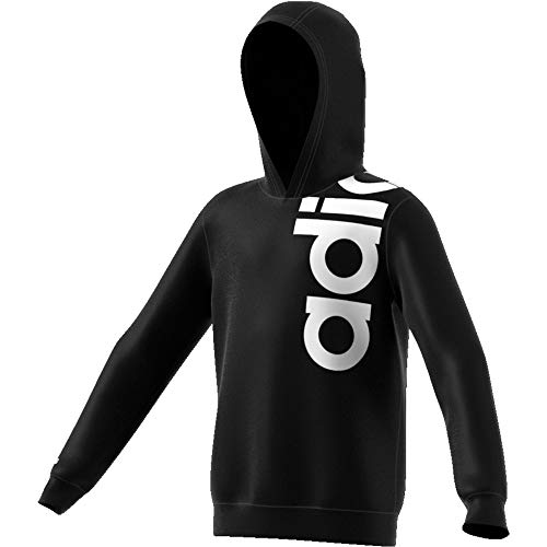 adidas YB Logo HDY Felpa per Bambini, Bambino, Felpa, FM0696, Nero/Bianco, 146 (10/11 Años)