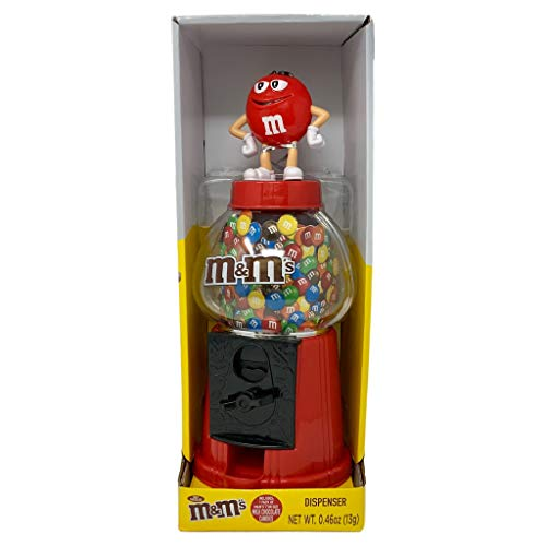 M & M CANDY DISPENSER FOR ALL CANDY LOVERS (red)