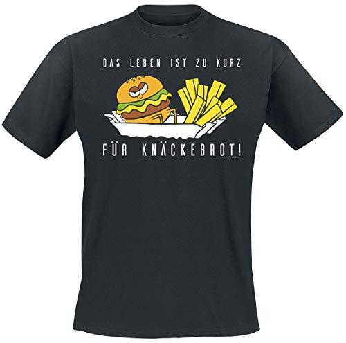 Das Leben ist zu kurz für Knäckebrot! Männer T-Shirt schwarz M