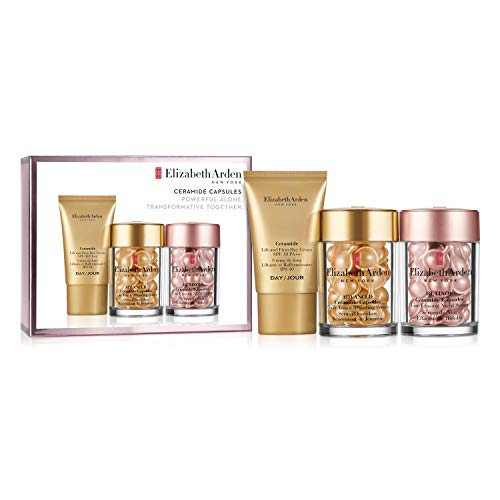 Elizabeth Arden Set Ceramide Retinol Capsules, 30 Stück plus Ceramide Advanced Capsules Youth Restorative Capsules, 30 Stück plus Ceramide Lift & Firm Day Cream SPF 30, 15 ml