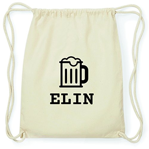 JOllify Turnbeutel - Happy Birthday - für ELIN - Bier Gruß