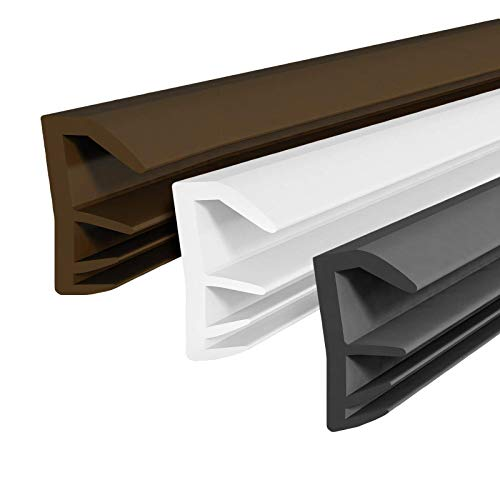DQ-PP Flügelfalzdichtung | Braun | 10 Meter | TPE Gummi | SFD-14 | Fensterdichtung Türdichtung Falzdichtung Gummidichtug Flügelfalz Dichtband Türfalzdichtung Holzfenster