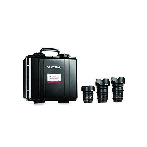 Samyang Kit V1 3 obiettivi VDSLR 14mm T3.1 24mm T1.5 35mm T1.5 - Montatura Sony A