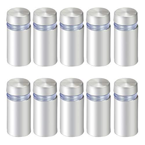 Hseamall 10 Stück Glas-Abstandshalter Schraubabstandshalter für Werbung, Nägel, 12 x 25 mm