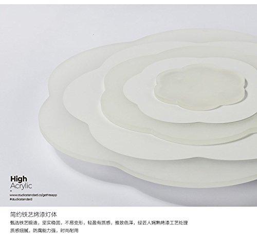 WoOnew Fleur acrylique plafond irrégulier Chambre nordique moderne créative de la personnalité Simple Chambre Enfants fille Princesse Mignon, éclairage blanc chaud extérieur trompette, 36x8cm