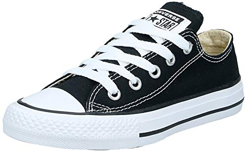 Converse Unisex-Kinder C. Taylor All Star Youth OX 3J2 Low-Top, Schwarz, 31 EU