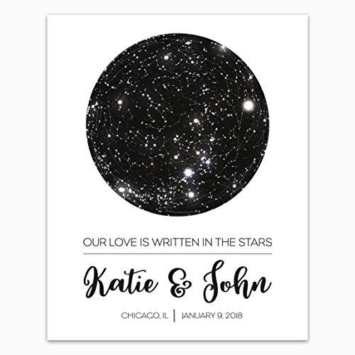 Custom Personalized Star Constellation Map, Star Chart, Custom Cool Gift Idea, Night Sky Poster