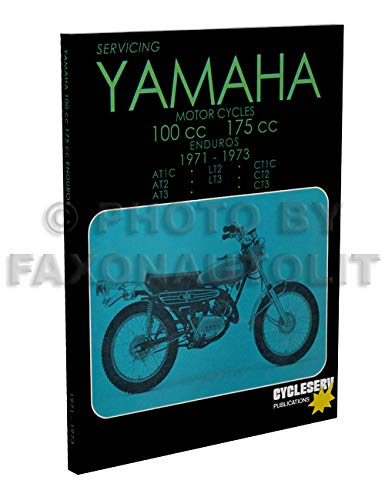 1971-1973 Yamaha 100/175 Cycleserv Repair Shop Manual Enduro Motorcycle
