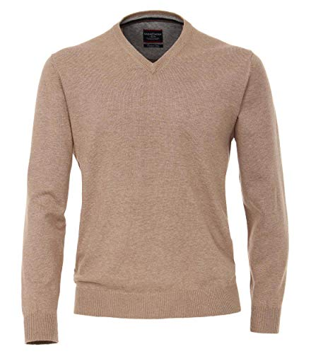 CASAMODA Herren Pullover Comfort Fit 004130/80, 616 Beige, M