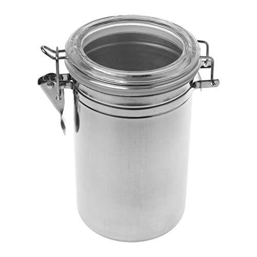 MM456 Edelstahl-Dose, Premium Kaffeedose, luftdicht für Küche, Kaffee, Zucker, Tee, Bohnen, Aufbewahrungsflasche, erhältlich in verschiedenen Größen four size D 10*16cm