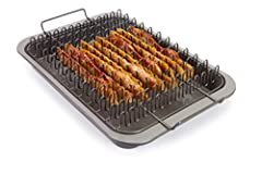 Bacon rack accommodates up to 12 strips of bacon and the tray under it catches the grease Bacon rack is designed so each bacon strip is separated to allow heat circulation around each strip of bacon resulting in even cooking The tray underneath is de...