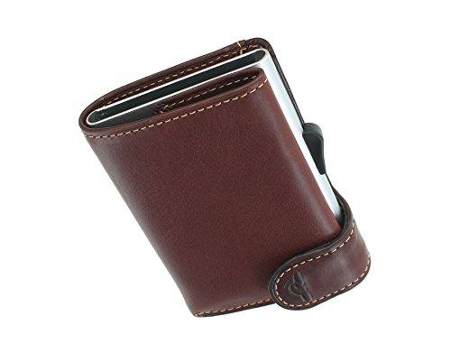 Tony Perotti kaart portemonnee met glijdende kaart mechanisme RFID beschermd - 3681_1