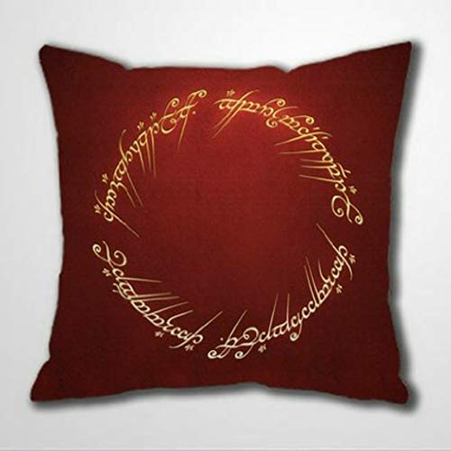 BYRON HOYLE Lord Rings Throw Pillow Cover Cushion Cover Quote Print Linen Square Pillowcase Home Decor for Sofa living room bedroom 18x18 inch