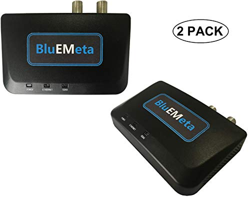BluEMeta MoCA Adapters with POE Filters, Bonded MoCA 2.0 Coax to Ethernet Adapter Single Pack, 1...