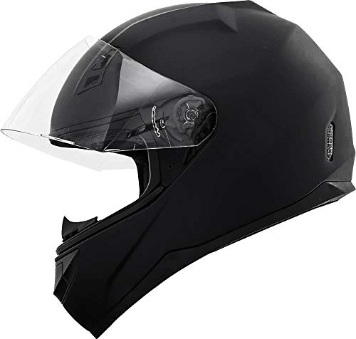 GDM DK-140 Full Face Motorcycle Helmet Matte Black (X-Large, Clear and Tinted Visors)
