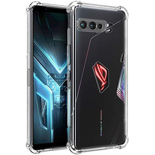Capa Osofter para Asus ROG Phone 3, Asus Zenfone ZS661KS Capa transparente reforçada cantos TPU absorção de choque flexível capa para celular Asus ROG Phone 3 ZS661KS (Clear)