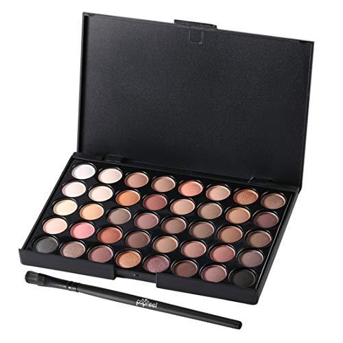 40 Couleurs Ensemble Femmes Du Visage Cosmétique Maquillage Fard À Paupières Palette Fard À Paupières Personnel Cosmétique Outils Avec Brosse-Multicolore