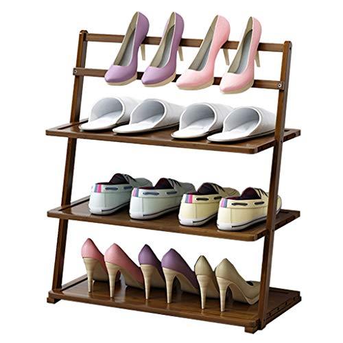 Zapatero Gerente de almacenamiento de calzado Organizador de almacenamiento de estantes de zapatos de múltiples capas de bambú Estante de zapatos de entrada, gabinete de almacenamiento de estantes for