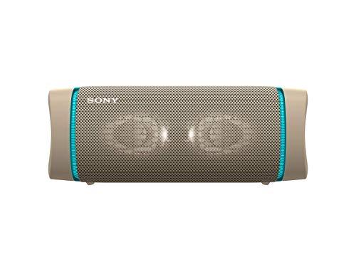 Sony SRS-XB33 - Speaker bluetooth waterproof, cassa portatile con autonomia fino a 24 ore e effetti luminosi (Taupe)
